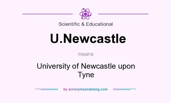 What does U.Newcastle mean? It stands for University of Newcastle upon Tyne