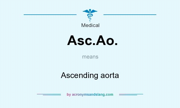 What does Asc.Ao. mean? It stands for Ascending aorta
