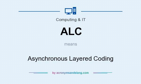 What does ALC mean? It stands for Asynchronous Layered Coding