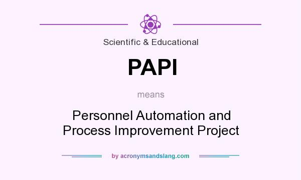 What does PAPI mean? It stands for Personnel Automation and Process Improvement Project