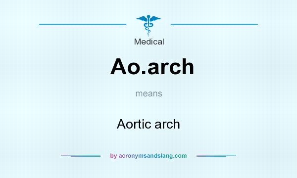 What does Ao.arch mean? It stands for Aortic arch