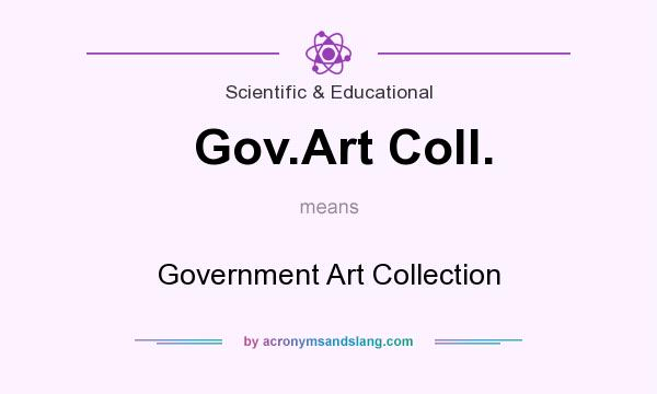 What does Gov.Art Coll. mean? It stands for Government Art Collection