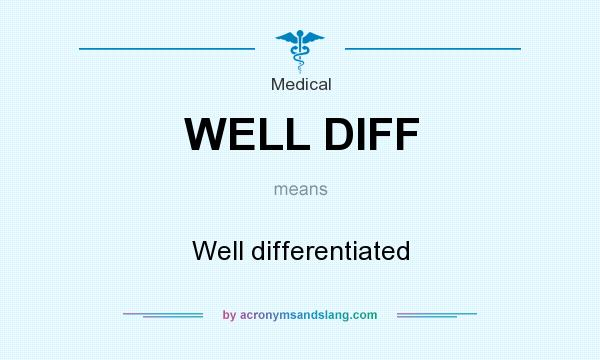 What does WELL DIFF mean? It stands for Well differentiated