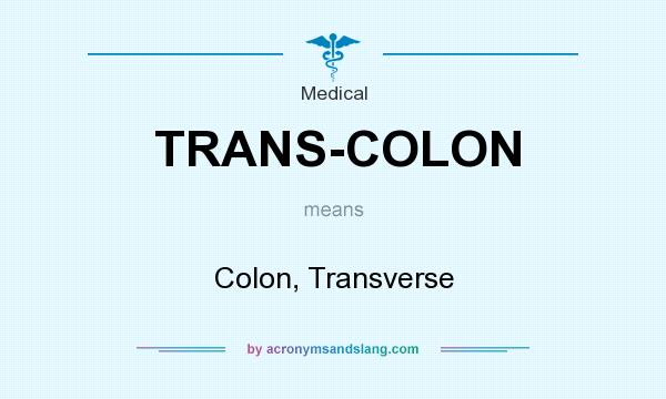 What does TRANS-COLON mean? It stands for Colon, Transverse