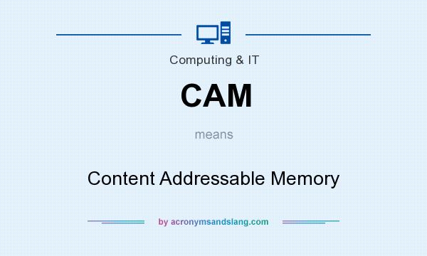 What does CAM mean? It stands for Content Addressable Memory