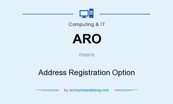 What does ARO mean? It stands for Address Registration Option
