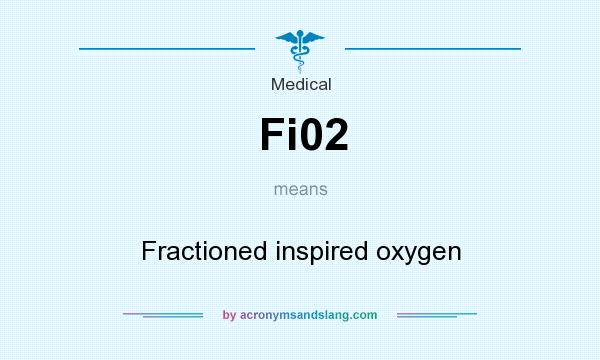 What does Fi02 mean? It stands for Fractioned inspired oxygen