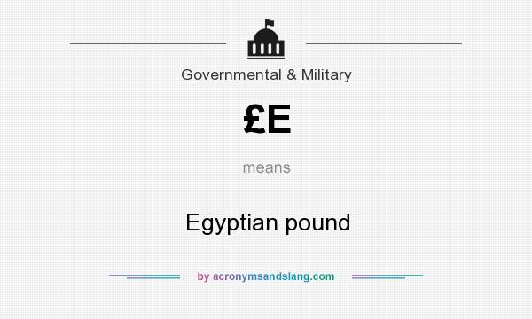 What does £E mean? It stands for Egyptian pound