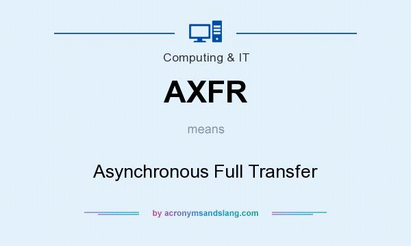 What does AXFR mean? It stands for Asynchronous Full Transfer
