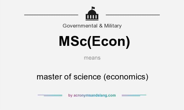 msc econ