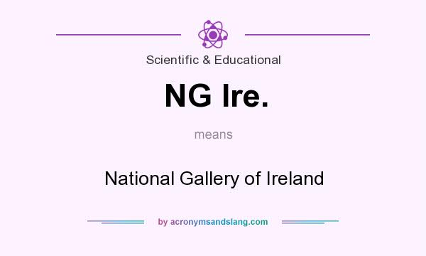 What does NG Ire. mean? It stands for National Gallery of Ireland
