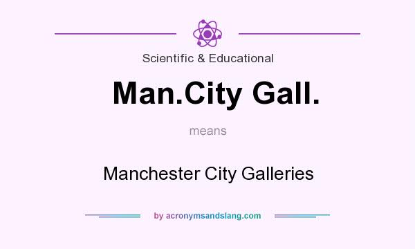 What does Man.City Gall. mean? It stands for Manchester City Galleries