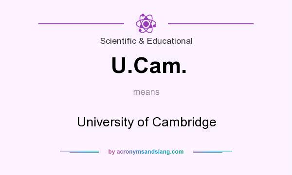 What does U.Cam. mean? It stands for University of Cambridge