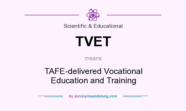 What does TVET mean? It stands for TAFE-delivered Vocational Education and Training