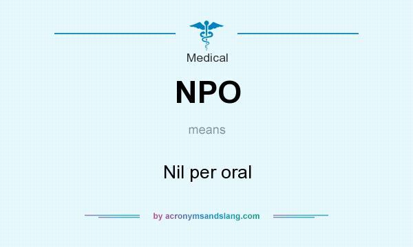 Nil Per Oral 31