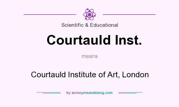 What does Courtauld Inst. mean? It stands for Courtauld Institute of Art, London