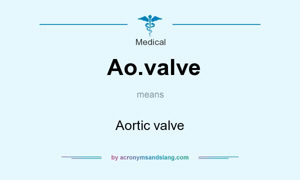 What does Ao.valve mean? It stands for Aortic valve