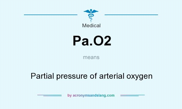 What does Pa.O2 mean? It stands for Partial pressure of arterial oxygen