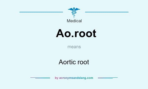 What does Ao.root mean? It stands for Aortic root