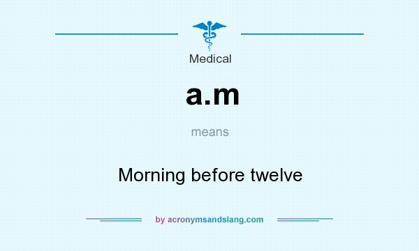 What does a.m mean? It stands for Morning before twelve