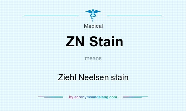 What does ZN Stain mean? It stands for Ziehl Neelsen stain
