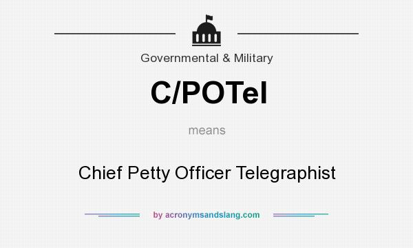 What does C/POTel mean? It stands for Chief Petty Officer Telegraphist