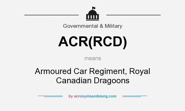 What does ACR(RCD) mean? - Definition of ACR(RCD) - ACR(RCD
