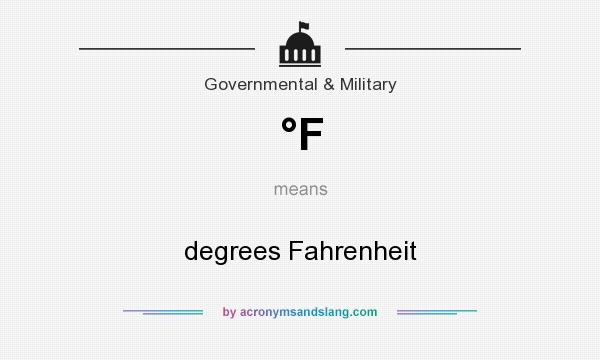 What does °F mean? It stands for degrees Fahrenheit