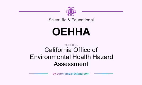 What does OEHHA mean? It stands for California Office of Environmental Health Hazard Assessment