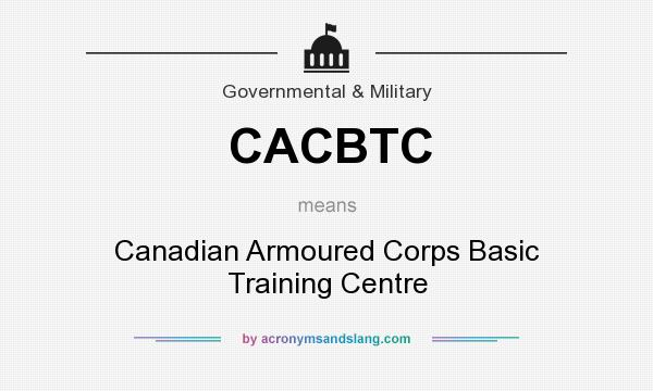 What does CACBTC mean? It stands for Canadian Armoured Corps Basic Training Centre