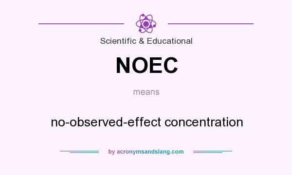 What does NOEC mean? It stands for no-observed-effect concentration