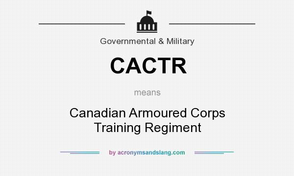 What does CACTR mean? It stands for Canadian Armoured Corps Training Regiment