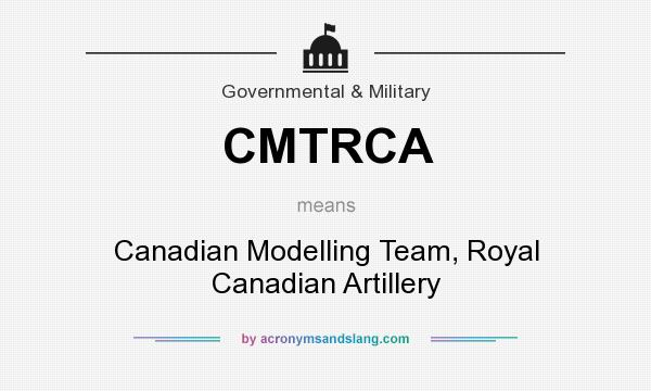 What does CMTRCA mean? It stands for Canadian Modelling Team, Royal Canadian Artillery
