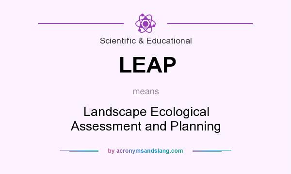 What does LEAP mean? It stands for Landscape Ecological Assessment and Planning