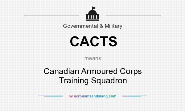 What does CACTS mean? It stands for Canadian Armoured Corps Training Squadron