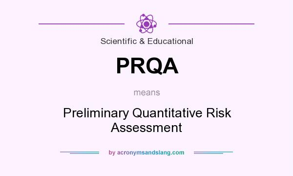 What does PRQA mean? It stands for Preliminary Quantitative Risk Assessment