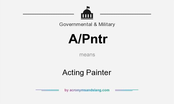 What does A/Pntr mean? It stands for Acting Painter