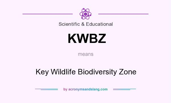 What does KWBZ mean? It stands for Key Wildlife Biodiversity Zone