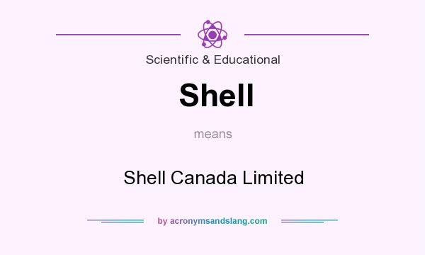 What does Shell mean? It stands for Shell Canada Limited