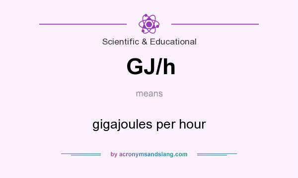 What does GJ/h mean? It stands for gigajoules per hour