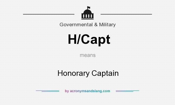 What does H/Capt mean? It stands for Honorary Captain