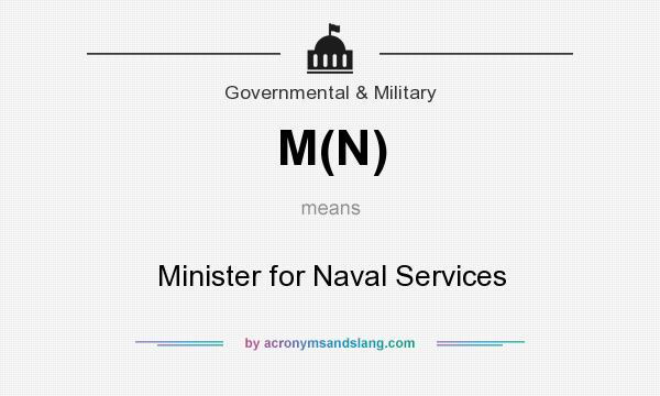 What does M(N) mean? It stands for Minister for Naval Services
