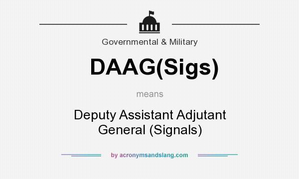 What Does DAAGSigs Mean
