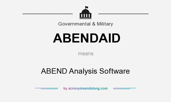 What does ABENDAID mean? It stands for ABEND Analysis Software