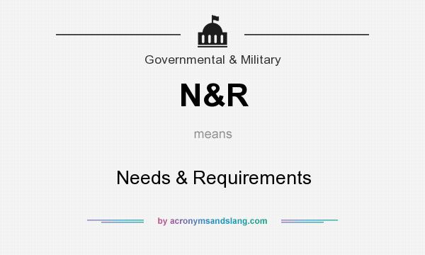 What does N&R mean? It stands for Needs & Requirements