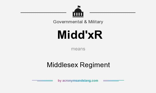 What does Midd`xR mean? It stands for Middlesex Regiment