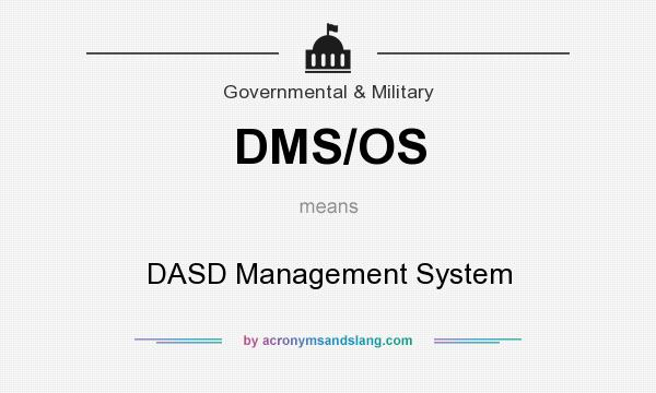 What does DMS/OS mean? It stands for DASD Management System