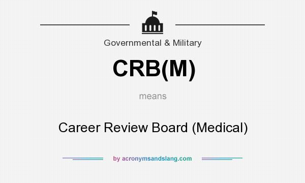What does CRB(M) mean? It stands for Career Review Board (Medical)