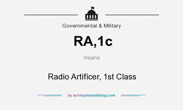 What does RA,1c mean? It stands for Radio Artificer, 1st Class