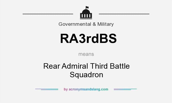 What does RA3rdBS mean? It stands for Rear Admiral Third Battle Squadron